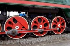 Chassiet av lokomotivet Arkivfoton