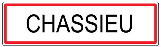 Chassieu city traffic sign illustration in France Stock Photography