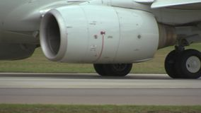 The chassis of the aircraft moving on the runway. 2 stock video footage