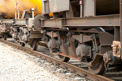 Chassis of freight train Royalty Free Stock Images