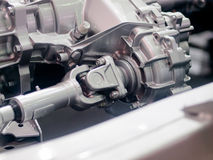Chassis. Generic car engine close up rolling chassis Royalty Free Stock Photography
