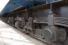 Chassis of the railway car Stock Photography