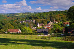 Chastellux-sur-Cure Chateau, Burgundy Royalty Free Stock Images