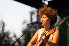 Chastity Brown przy Carroponte MI 05-07-2017 Obrazy Stock