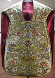 Chasuble in San Lorenzo Maggiore church, Naples, Italy Royalty Free Stock Photography
