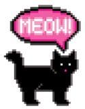 Chat à 8 bits miaulant Photos libres de droits