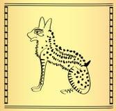 Chat égyptien traditionnel illustration de vecteur