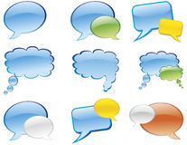 Chat. Vector bubble chat icon. Aqua style Stock Photo