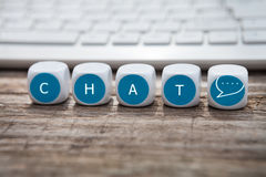 Chat about anything Royalty Free Stock Photo
