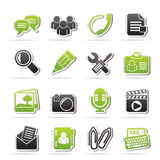 Chat Application and communication Icons Stock Photography