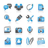 Chat Application and communication Icons Royalty Free Stock Photos