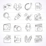 Chat Application and communication Icons Stock Photos