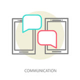 Chat application template Royalty Free Stock Photos