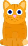 Chat avec de grands yeux Image libre de droits