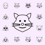 chat avec une ic?ne de sourire Ensemble universel d'ic?nes d'Emoji pour le Web et le mobile illustration de vecteur