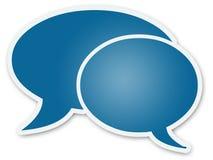 Chat-Blasen Stockbild