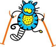 Chat blessé Image libre de droits