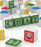 Chat block Royalty Free Stock Image