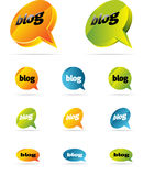 Chat or blog. Bubbles. vector only Stock Image