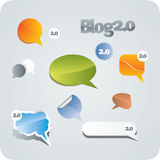 Chat or blog bubbles. Vector only Stock Photos