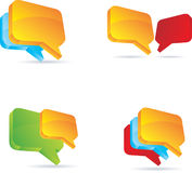 Chat or blog bubbles. Royalty Free Stock Image