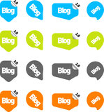 Chat or blog bubbles. Vector only Royalty Free Stock Photography