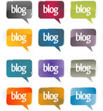 Chat or blog bubbles. Royalty Free Stock Photos