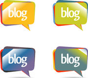 Chat or blog bubbles. Vector only Stock Photography