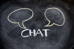 Chat board drawn on a blackboard Royalty Free Stock Images