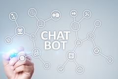 Free Chat Bot, Ai, Artificial Intelligence And Automation Technology In Service And Support. Business Innovation. Stock Images - 148210824