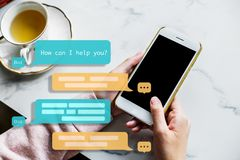 Free Chat Bot Assistant For Future. Machine Learning. Royalty Free Stock Photo - 130622815