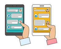 Chat bot connected stock illustration