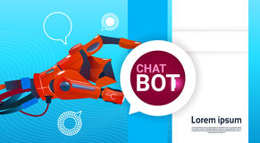 Chat Bot Free Robot Virtual Assistance Of Website Or Mobile Applications, Artificial Intelligence Concept Stock Photos