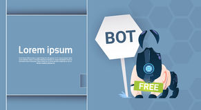 Chat Bot Free Robot Virtual Assistance Of Website Or Mobile Applications, Artificial Intelligence Concept Royalty Free Stock Image