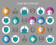 Chat bot icons Stock Photos