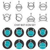 Chat Bot-Ikonensatz Stockfotos