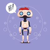 Chat Bot, Robot Virtual Assistance Element Of Website Or Mobile Applications, Artificial Intelligence Concept. Flat Vector Illustration Royalty Free Stock Images