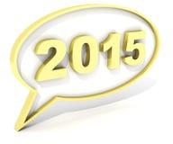 2015 chat box Royalty Free Stock Image