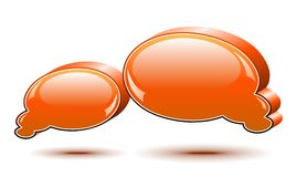 Chat box. Orange Royalty Free Stock Image