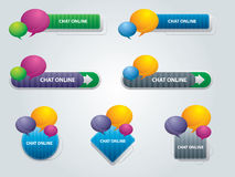 Chat box in vector. Internet buttons with chat box in vector Royalty Free Stock Photography