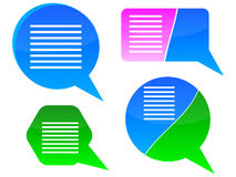 Chat boxes vector illustration Stock Photography