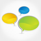 Chat bubble. 3d-Vector isolated Chat balloons illustration Royalty Free Stock Photography