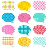 Chat Bubble. Illustration of chat bubble with different colorful pattern vector illustration