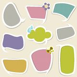 Chat Bubble. Illustration of chat bubble with different colorful pattern royalty free illustration