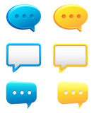 Chat bubble. Illustration image Stock Images