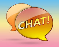 Chat bubble. Illustration of a sleek chat bubble icon Stock Photography