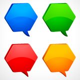 Chat Bubble. Vector illustration of set of colorful chat bubble Royalty Free Stock Photos