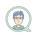 Chat bubble with avatar Stock Photo