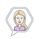 Chat bubble with avatar Stock Photos