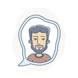 Chat bubble with avatar Stock Images